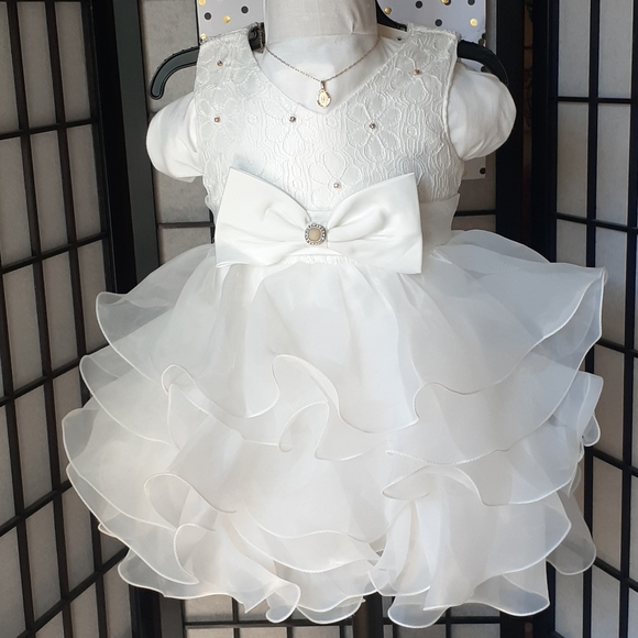 Baby dress formal baptismal or party white
